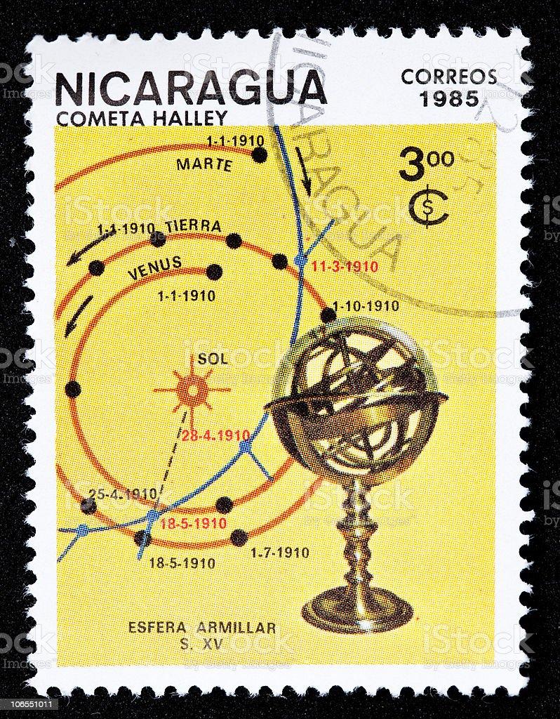 Nicaraguan stamp stock photo