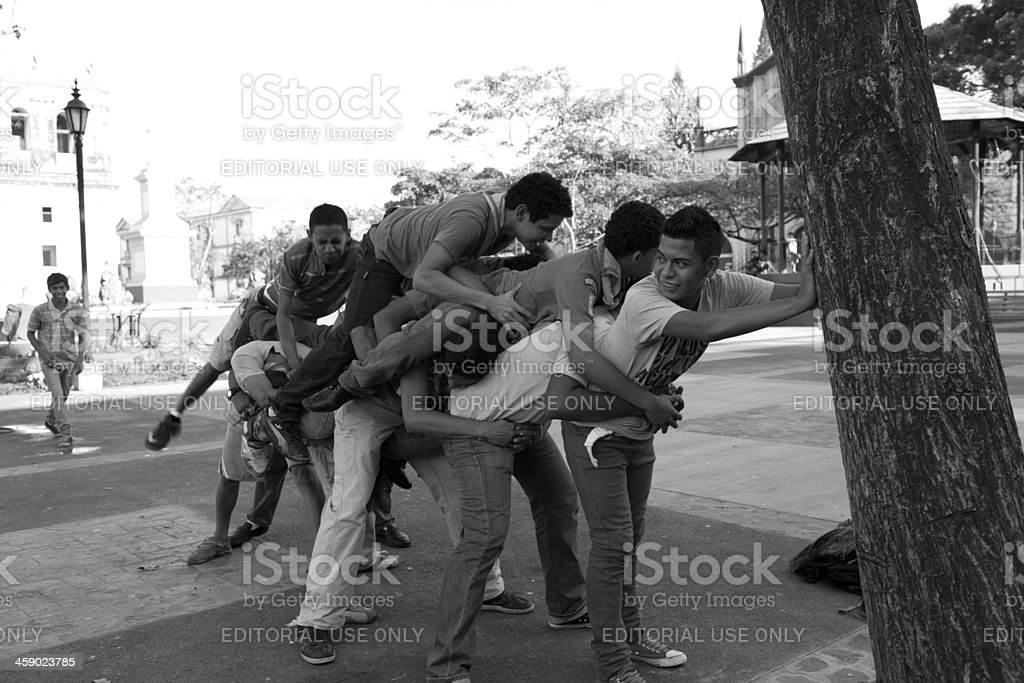 Nicaraguan teenager stock photo