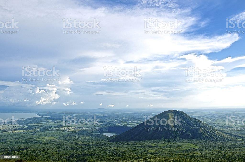 Nicaraguan Volcano stock photo