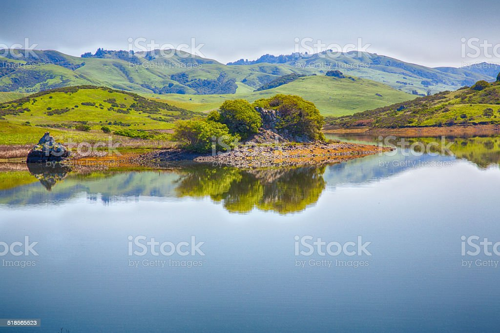 Nicasio Reservoir stock photo