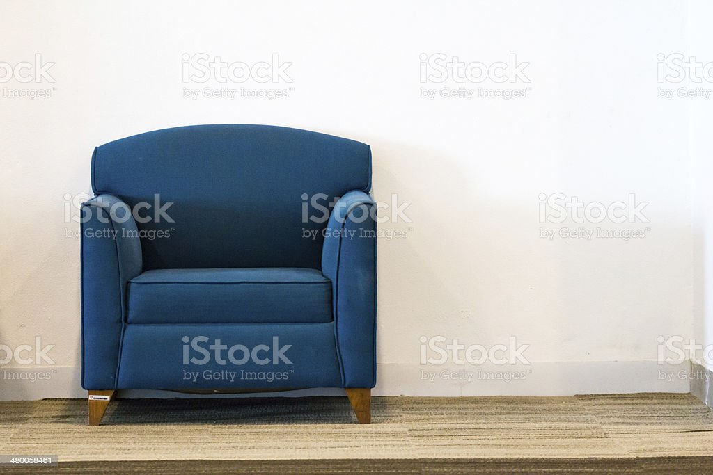 Nice and luxury leather sofa stock photo