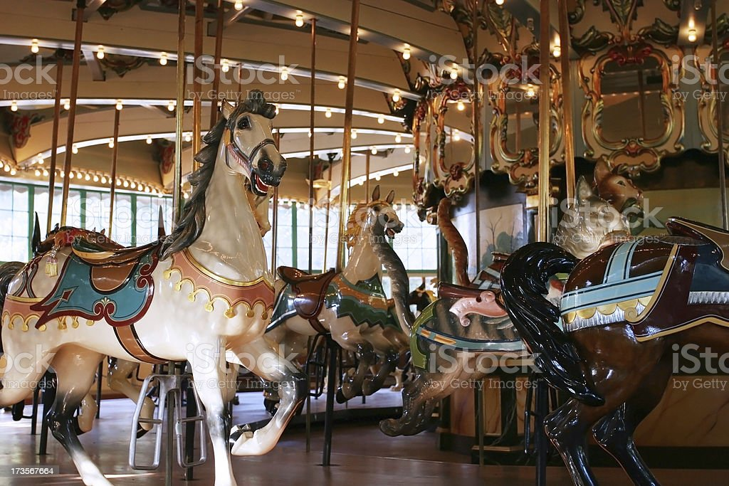 Nice and sharp carousel in the park stock photo