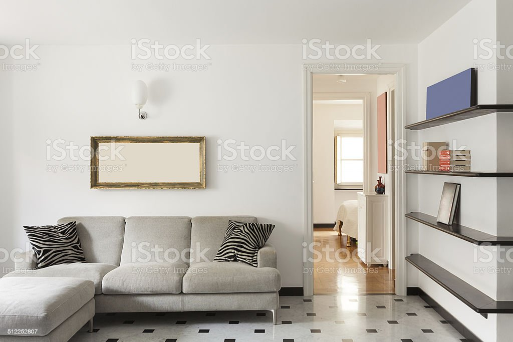 Nice apartment, interior stock photo
