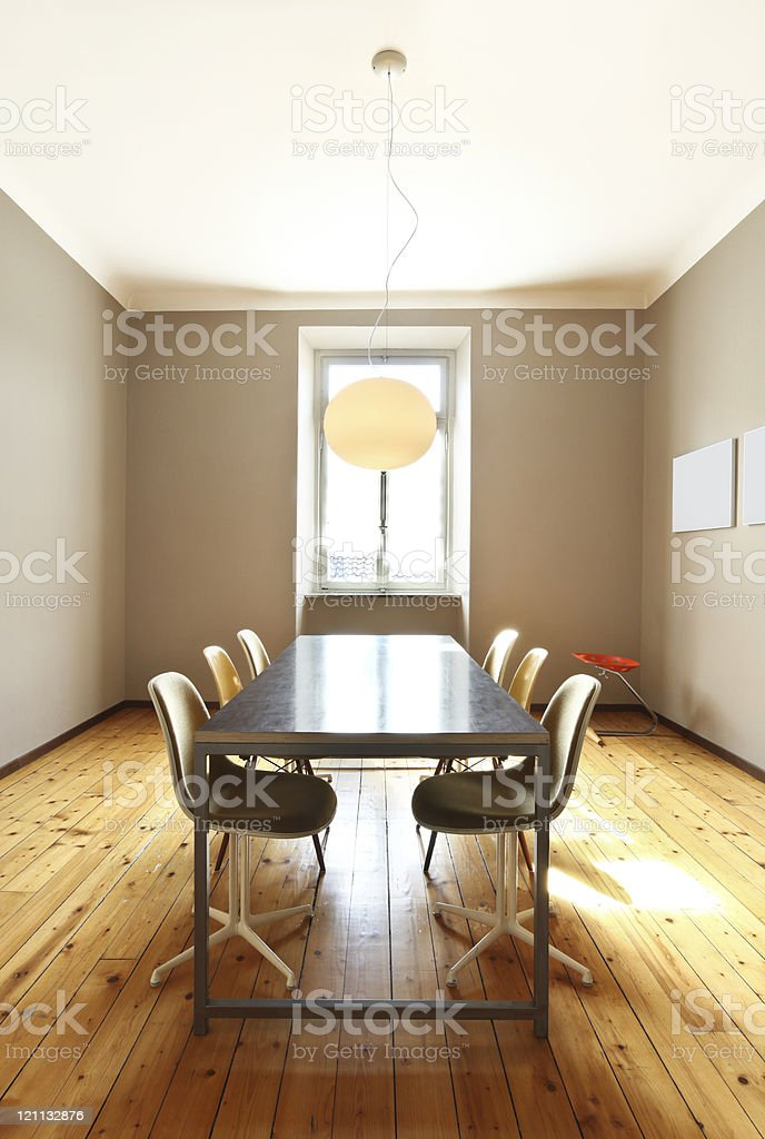 nice apartment refitted, dining room in retro style royalty-free stock photo