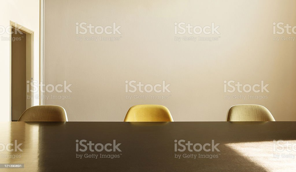 nice apartment refitted, dining table with three chairs royalty-free stock photo