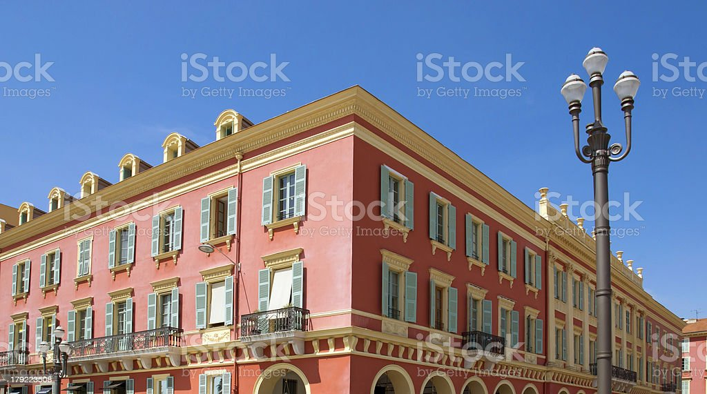 Nice - Architecture Place Massena royalty-free stock photo