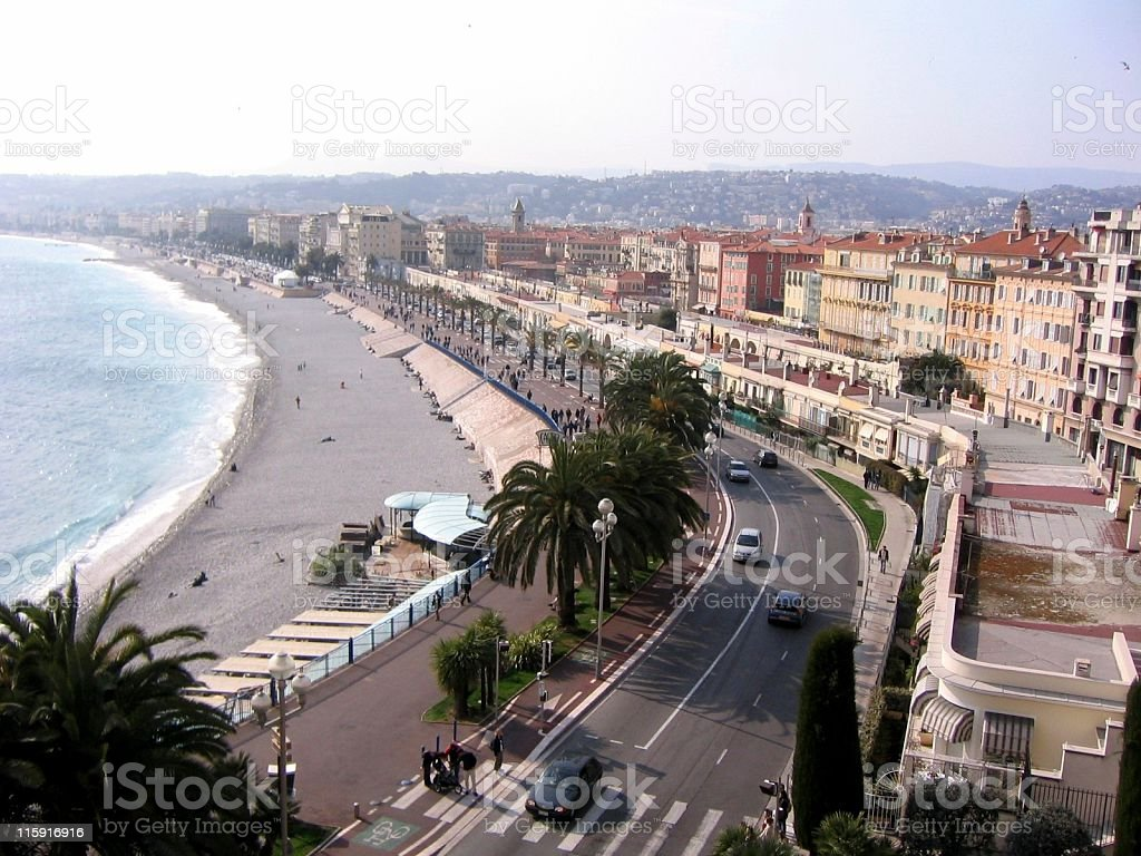 Nice (French Riviera) at Dusk royalty-free stock photo