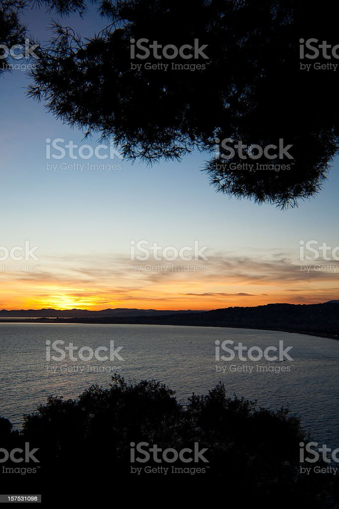 Nice at sunset royalty-free stock photo
