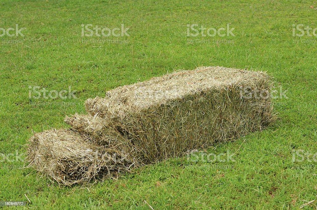 Nice Bale Of Hay Opened stock photo