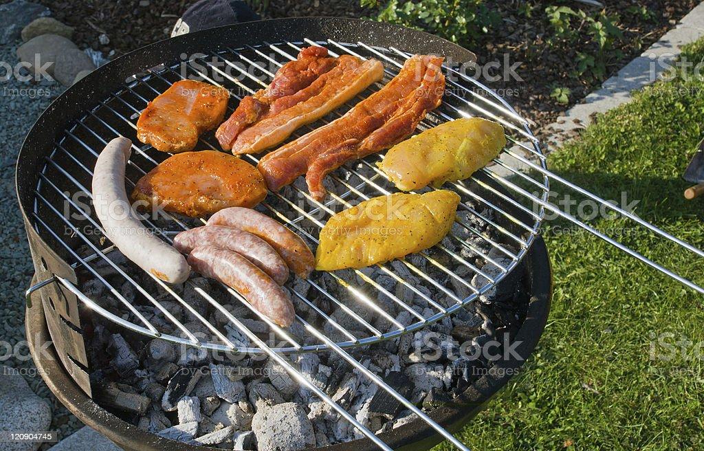 Nice barbecue stock photo