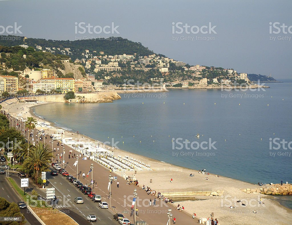 Nice Beach South of France royalty-free stock photo
