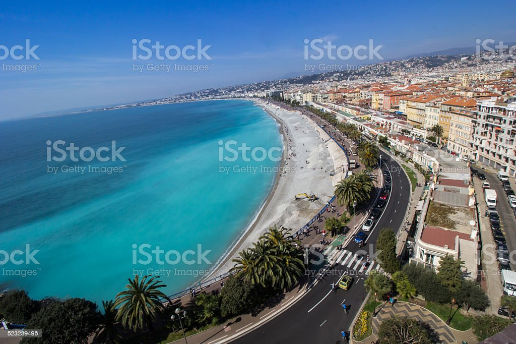 Nice beach view stock photo