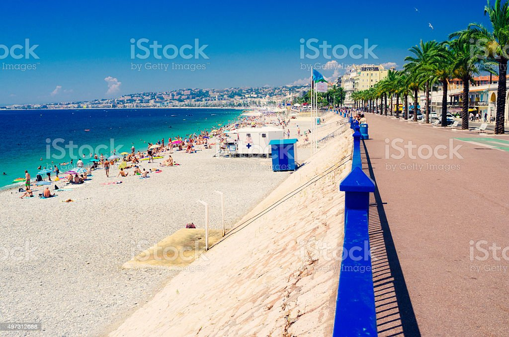 Nice beachfront, French Riviera stock photo