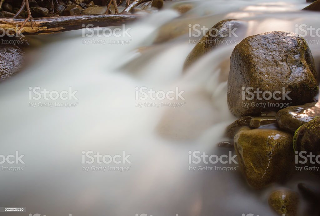 nice beautiful mountain stream stock photo