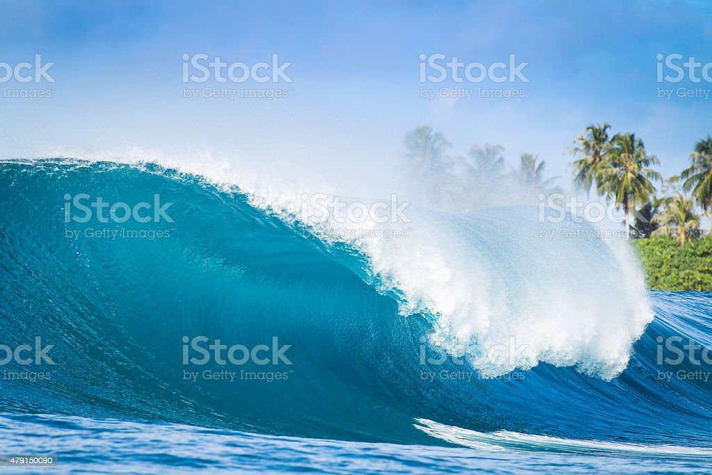 Nice Big Wave in Indonesia stock photo