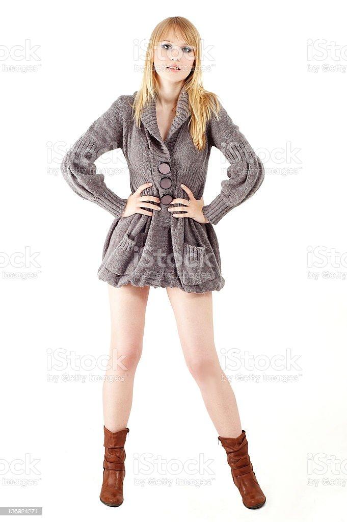 nice blond girl royalty-free stock photo