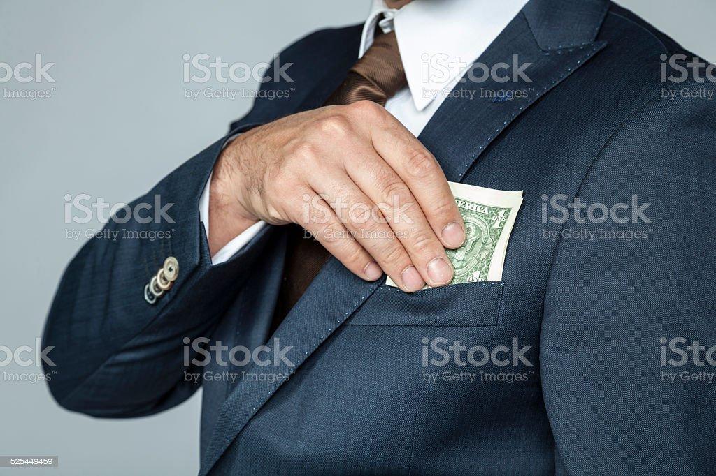 Nice bribe stock photo