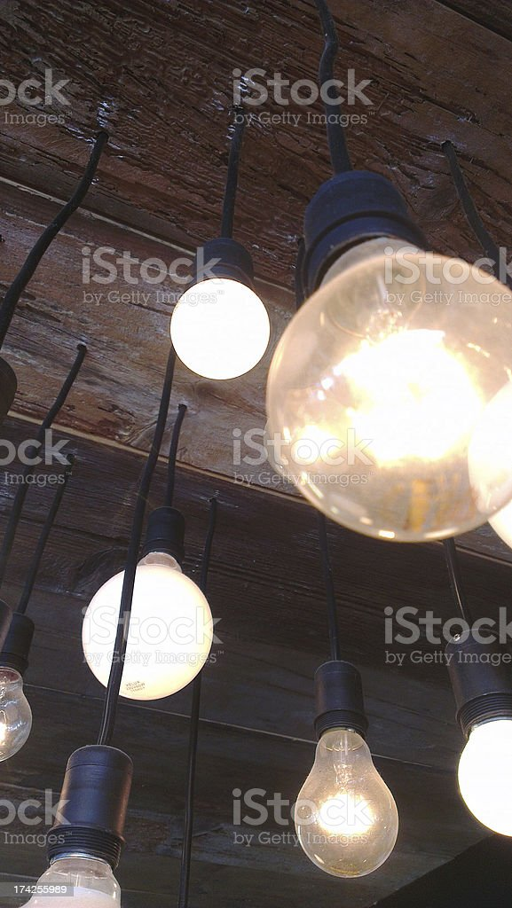 nice bulb lights royalty-free stock photo