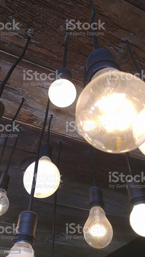nice bulb lights stock photo