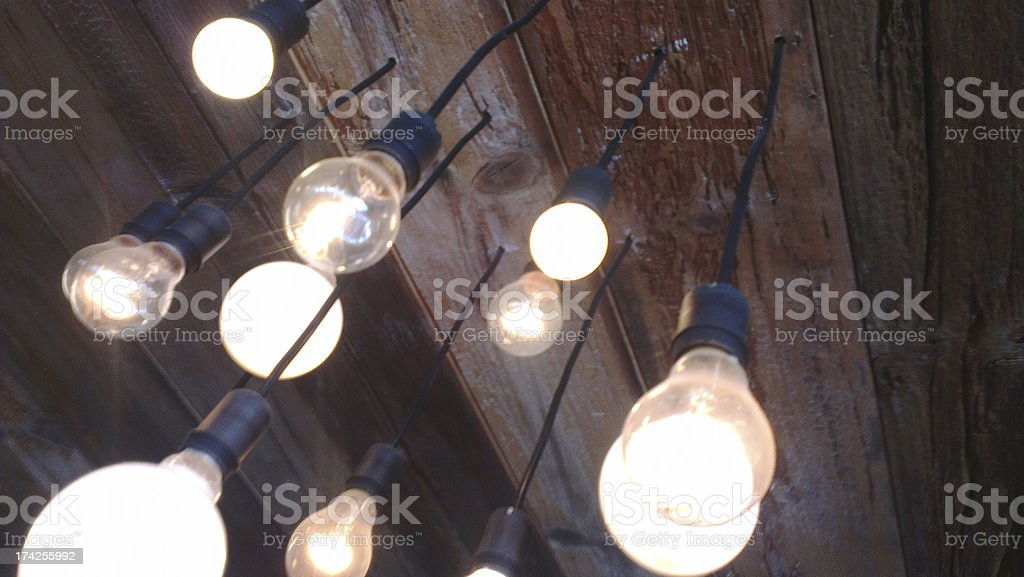 nice bulb lights stock photo
