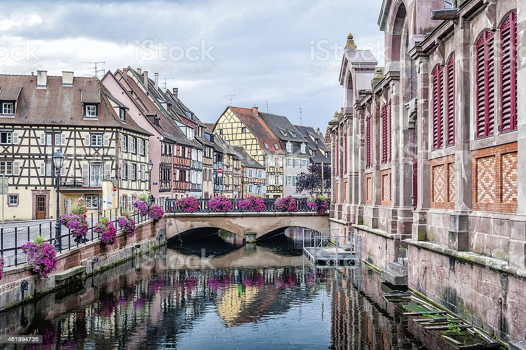 Nice Canal in Strasbourg stock photo