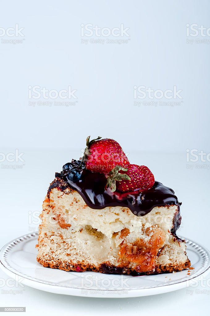 nice cheesecake on the plate stock photo