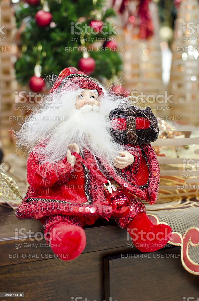 nice christmass and new year santa claus figure royalty-free stock photo