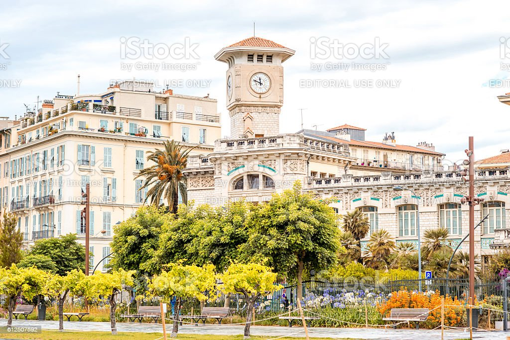 Nice city in France stock photo