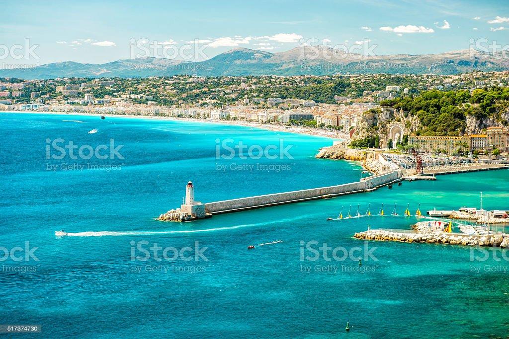 Nice city, mediterranean sea, France, French riviera stock photo