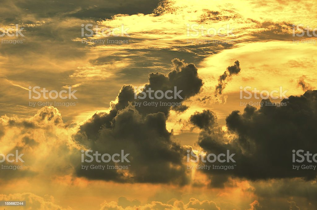 Nice cloud sky royalty-free stock photo