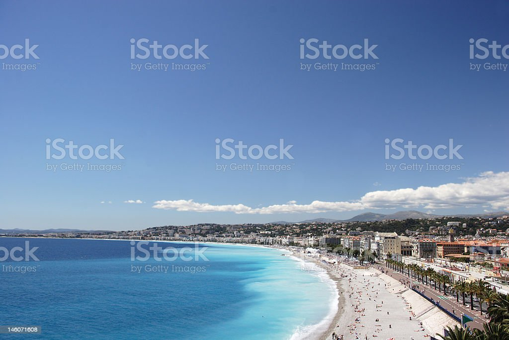 Nice Coastline - with clear space stock photo