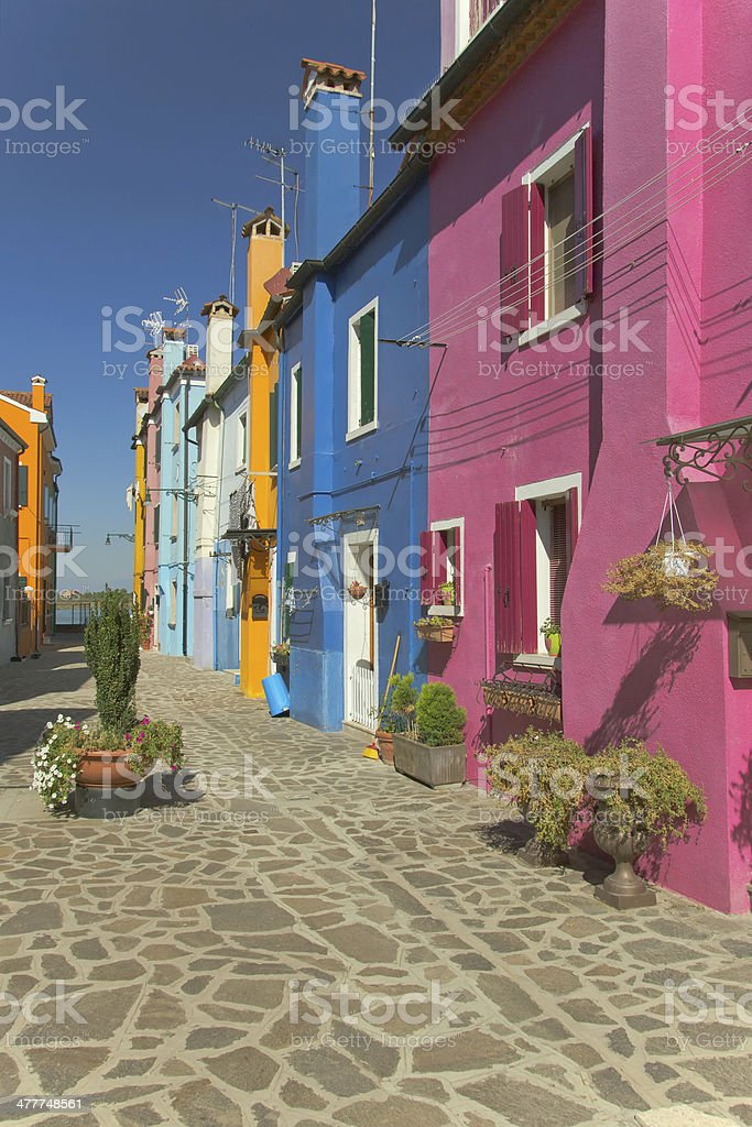 Nice color houses (Burano, Italy) royalty-free stock photo