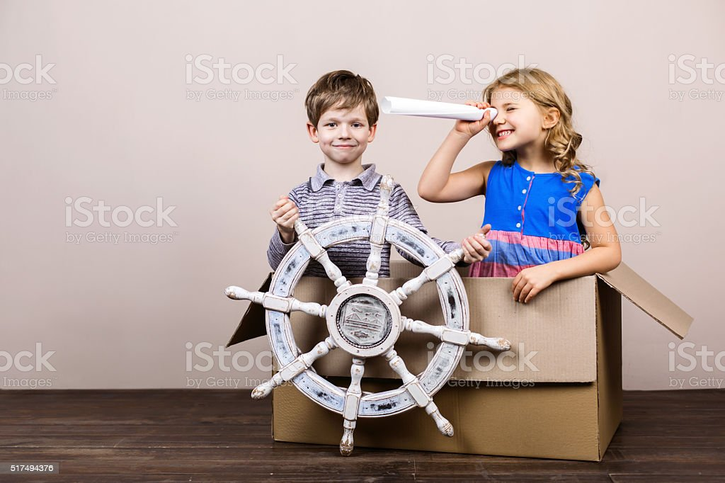 Nice concept for childhood dreams stock photo