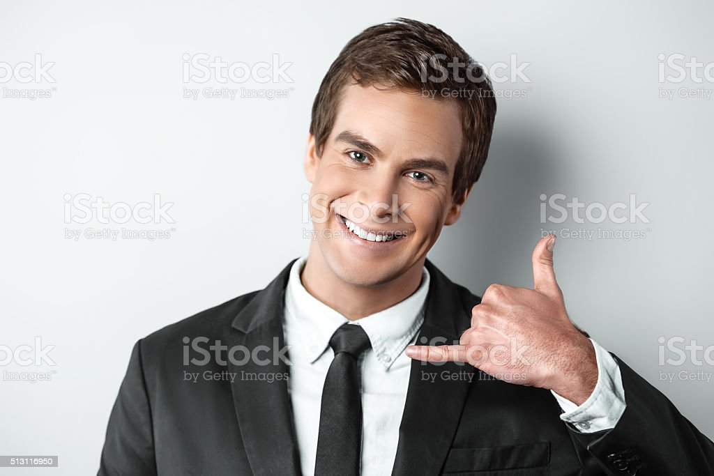 Nice concept for young handsome businessman stock photo