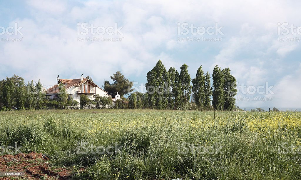 Nice country house stock photo
