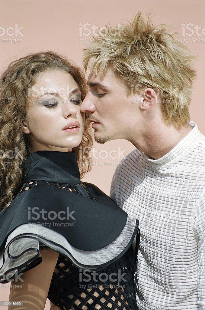 Nice couple royalty-free stock photo
