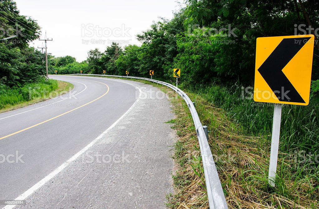 Nice curve road in countryside stock photo