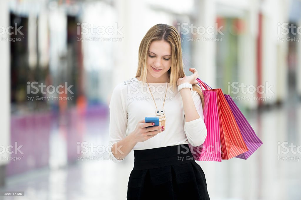 Nice day. Good news and purchases stock photo