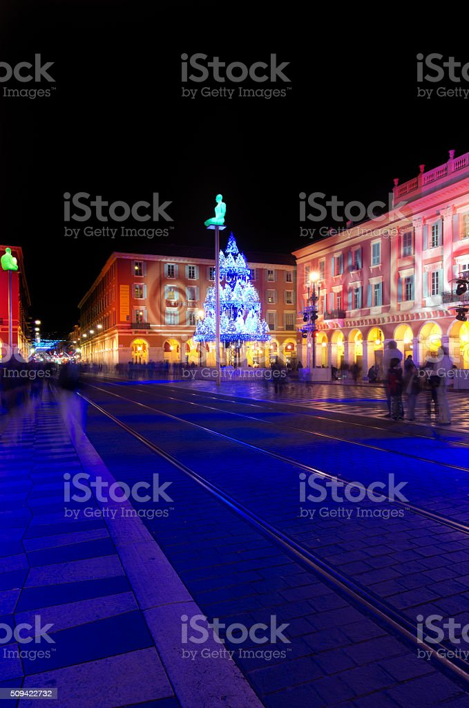Nice decorated for Christmas, France stock photo