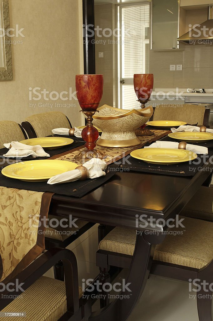 Nice dining room royalty-free stock photo