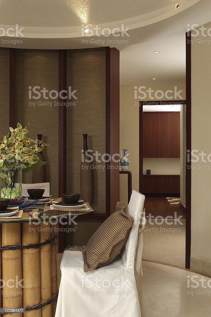 Nice dining room royalty-free stock photo
