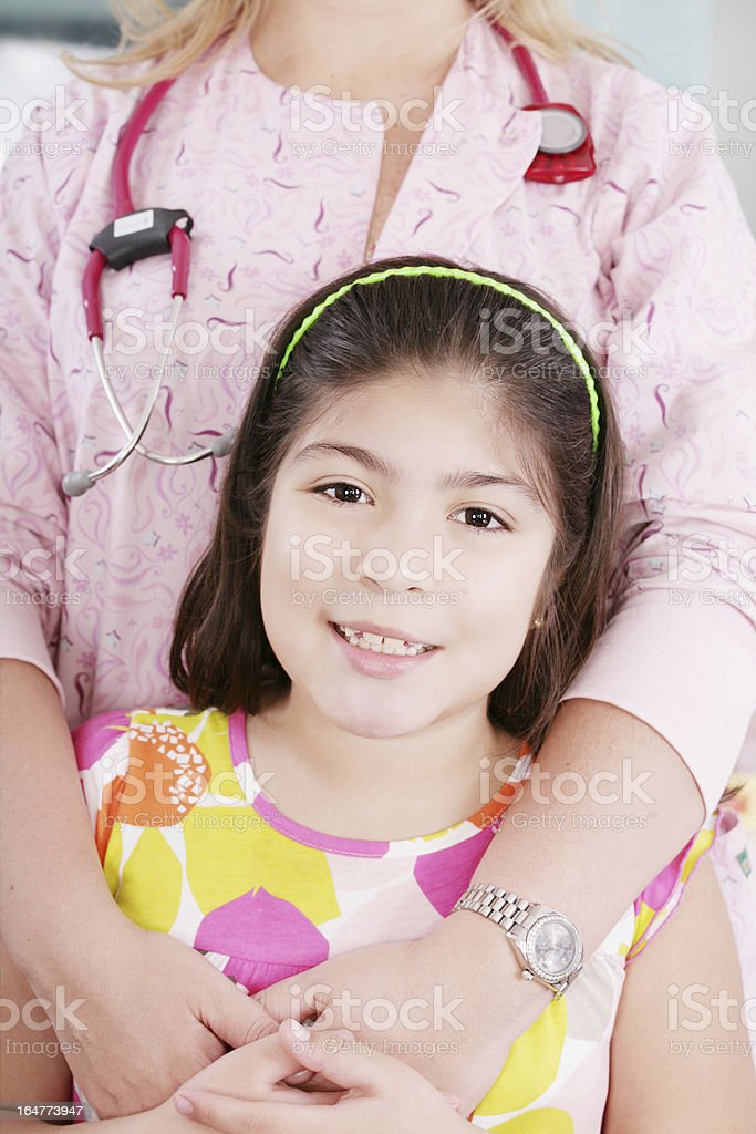 nice doctor with little girl royalty-free stock photo