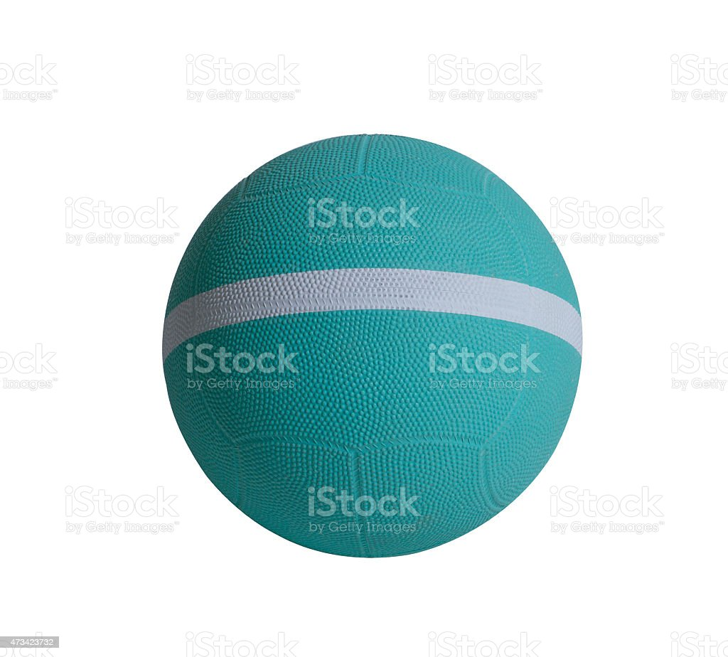 Nice dodgeball with white strip the sporting goods utility tool stock photo