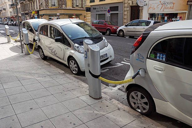 City Of Nice Electric Cars Pictures Images And Stock Photos Istock