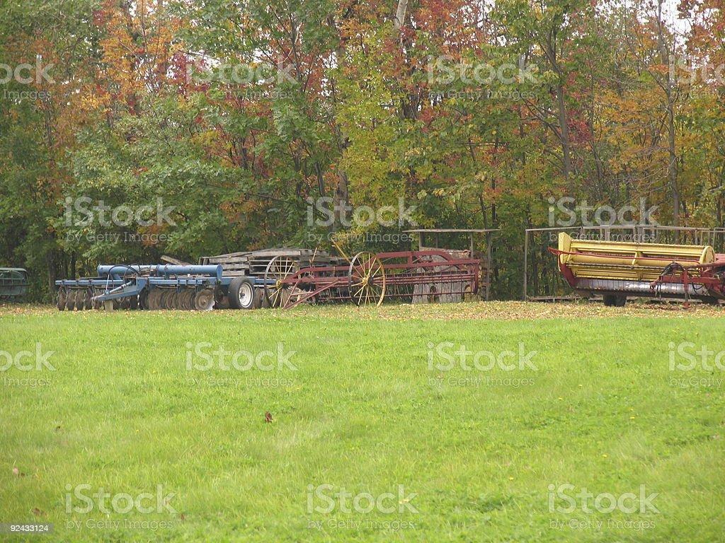 Nice farm land stock photo