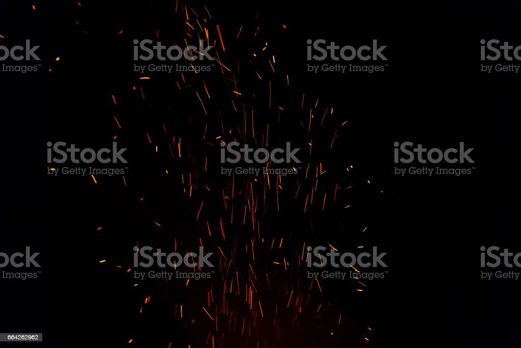 A nice fire in a fire place stock photo