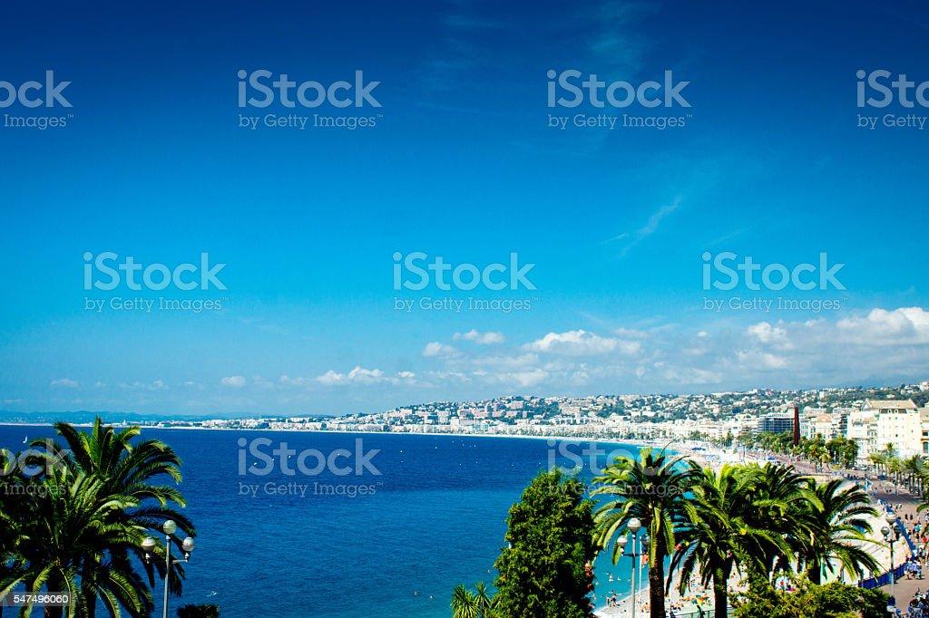 Nice France beach stock photo