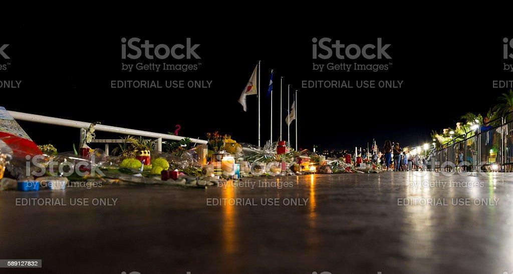 Nice, France Terrorist Attack Promenade Memorial stock photo
