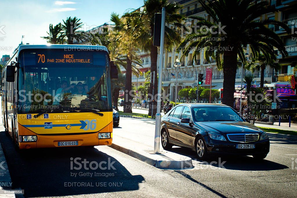 Nice France traffic stock photo