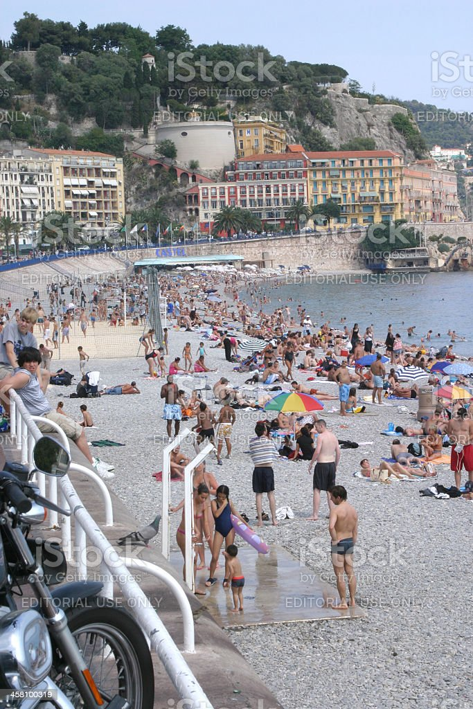 Nice, French Riviera Beach royalty-free stock photo